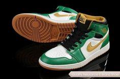 brand new 6418c d13f6 Buy Closeout Nike Air Jordan I 1 Retro Mens Shoes High White Green Gold  Cheap from Reliable Closeout Nike Air Jordan I 1 Retro Mens Shoes High  White Green ...