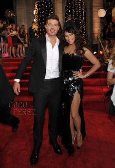 MTV Video Music Awards 2013: Robin Thicke & Paula Patton walk the red carpet