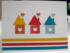 Lovely new home card Pretty Cards, Cute Cards, Diy Cards, Card Making Tutorials, Making Ideas, Congratulations New Home, Pinterest Cards, Housewarming Card, New Home Cards