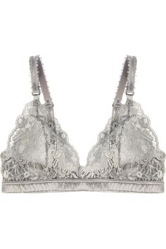 Bonnie Sizzling lace and satin soft-cup bra by Stella McCartney