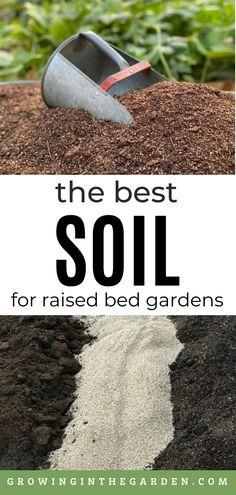 Soil For Raised Beds, Raised Garden Beds, Planting Vegetables, Vegetable Gardening, Raised Gardens, Peat Moss, Square Foot Gardening, Organic Gardening Tips, Garden Soil