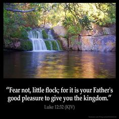 """( Luke KJV ) """"Fear not, little flock; for it is your Father's Good Pleasure to Give you the Kingdom. ( Psalms KJV ) """"And they that know thy Nam… Bible Verses Kjv, King James Bible Verses, Biblical Quotes, Favorite Bible Verses, Bible Quotes, Bible Bible, Godly Quotes, Prayer Scriptures, Spiritual Quotes"""
