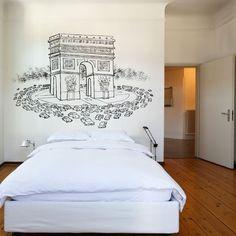 Wall sticker of Paris, Arc de Triomphe | by Chispum