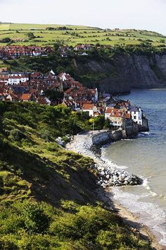 Robin Hood's Bay - Yorkshire, England.  Go to www.YourTravelVideos.com or just click on photo for home videos and much more on sites like this.