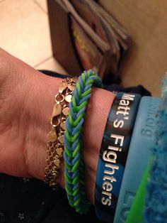 Matt S Fighters New Liver Life Bracelet N Donate Green And Blue