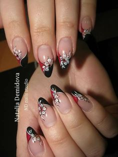 Perfect Nails, Gorgeous Nails, Pretty Nails, Bling Nails, Red Nails, Hair And Nails, Short Nail Designs, Nail Art Designs, Long Stiletto Nails