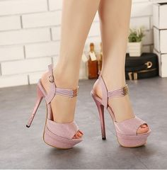 This item is a pair of Women Trendy Shoes, which features buckle strap with cross fashion decoration design, soft PU leather, peep toe and high heels, these shoes match well with your variours style d