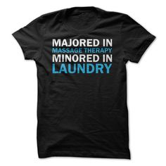 A shirt for all of the massage therapists out there who feel like they got a minor in laundry education! Who knew there was so much study behind folding a fitted sheet?!