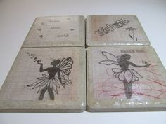 Fairy or Pixie Coasters   Believe in Magic by PixieMoonCreations, $12.00