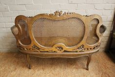Gilt Louis XV sofa century (seat needs to be recained) - Seats - Houtroos Blue Dining Tables, Entryway Tables, Gaston, Decoration, 19th Century, Bench, Sofa, Italy, Album