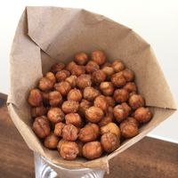 400 degrees for an hour is a long time for these,  will have to put them under something else. Crunchy Chickpeas - ALTON BROWN