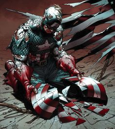 """a small sub-molecular imperfection was introduced into Captain America's shield, each impact over the years spread to neighboring molecules. It grew until the molecular bonds of the shield were completely broken down, shattering the shield. The shattering effect continued to spread to other vibranium, unconnected to the shield.This created a vibranium """"cancer"""" Captain America was able to stop the cancer and restore his sheild."""