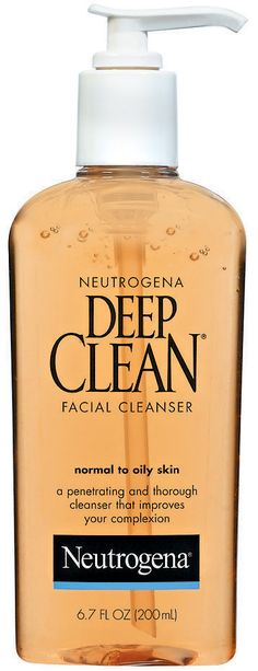 Clear Skin for Black Women Neutrogena Deep Clean Facial Cleanser Normal to Oily Skin Skincare For Oily Skin, Moisturizer For Oily Skin, Oily Skin Care, Best Natural Skin Care, Organic Skin Care, Natural Beauty, Deep Clean Face Wash, Clear Skin Diet, Black Skin Care