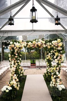 Love this. Romantic chuppah. Event Planning: Bowen & Company | Floral Design: Lewis Miller Design. Photography: Christian Oth Studio - christianothstudio.com  Read More: http://www.stylemepretty.com/2014/07/23/a-classic-tented-affair-at-glenmere-mansion/