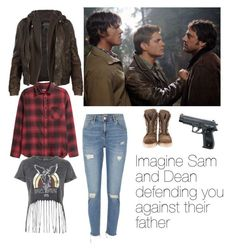 Imagine Sam and Dean defending you against their father Supernatural Fashion, Supernatural Outfits, Supernatural Baby, Supernatural Imagines, Fandom Fashion, Fashion Show, Fashion Design, Blue Fashion, Fashion Looks