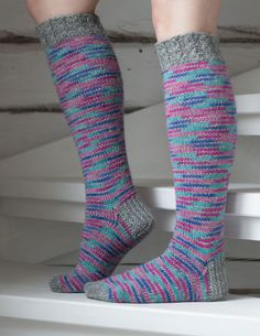 Knee Socks, Marimekko, Diy Crafts, Knitting, Crochet, Pattern, Sock Knitting, Slipper, Socks