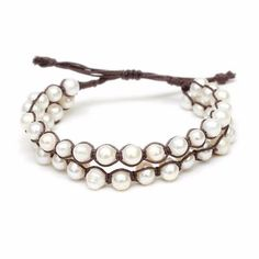 Two Row Fresh Water #Pearl Corded Bracelet – A'Dena Accents