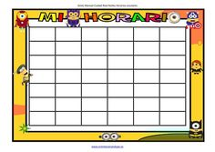 Plantillas para horarios divertidos en WORD. Hazte tu horario Editable, Baby Shower, Education, Games, Minions, Class Schedule, Kids Schedule Chart, Daylight Savings Time, Preschool Language Activities