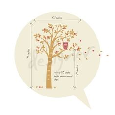 Tree Wall Decal Wall Sticker Nersery Decal by DesignedDesigner