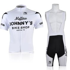 2010 Mellow Johnny's Cycling Jersey | Cycling Bib Shorts | Johnnys White Cycling Clothing Set Size:XS-4XL Free Shipping US $35.77