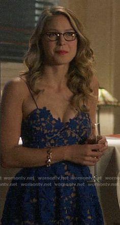Kara's blue lace dress on Supergirl Supergirl Outfit, Supergirl Superman, Supergirl Season, Divas, Melissa Supergirl, Girl Fashion, Fashion Outfits, Melissa Benoist, I Love Girls