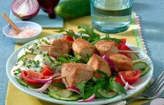 Schnitzel with salad Healthy Salads, Healthy Life, Healthy Eating, Law Carb, Low Carb Recipes, Healthy Recipes, Food Combining, Love Food, Yummy Food