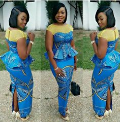 Check Out this Beautiful Ankara Blouse and Skirt Styles .Check Out this Beautiful Ankara Blouse and Skirt Styles African Fashion Ankara, Ghanaian Fashion, Latest African Fashion Dresses, African Dresses For Women, African Print Dresses, African Print Fashion, Africa Fashion, African Attire, African Wear