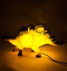 Stegosaurus Dinosaur Table Lamp LED Light Kitsch Cute Novelty Night Light