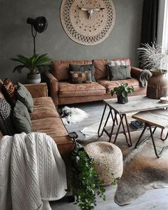 Cozy Chic Boho Living Room Designs for Apartment room # Living room furniture Living Room Decor Guide, Boho Chic Living Room, Living Room Inspiration, Rugs In Living Room, Living Room Furniture, Living Room Designs, Living Room Brown, Living Room Themes, Furniture Stores