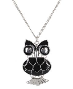 enameled owl necklace $2.80