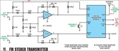 Quality Stereo Wireless #Microphone or Audio Link - schematic #ElectricalEngineering #EEE