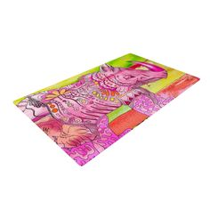 "Catherine Holcombe ""Pretty In Pink"" Woven Area Rug"