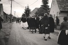 Townspeople in traditional dresses in the grape harvest parade in Somló, Hungary on September 20th 2008.