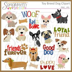 Sanqunetti Design: Toy Dog Breed Clipart