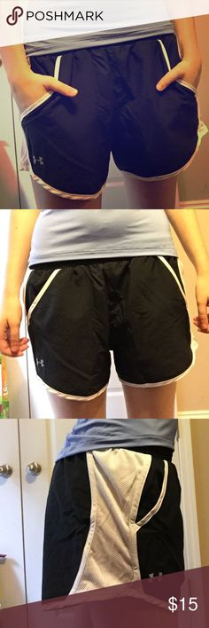 Under Armor Shorts Brand new under armor shorts with tag, never worn. Drawstring on the inside so they'll fit sizes xs-m I would say. Under Armour Shorts
