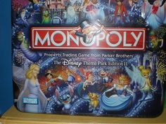 Amazon.com: Monopoly Disney Theme Park Edition II Game Tin by Parker Brothers: Toys & Games