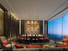 DB Kim Chinese Restaurant, Cafe Restaurant, Restaurant Design, Hotel Lobby Design, Chinese Interior, Private Room, Dining Area, Dining Room, Interior Design