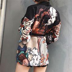 kimono cardigan cosplay shirt blouse – iawear Source by Cardigans Japan Fashion, Look Fashion, Korean Fashion, Fashion Outfits, Street Fashion, Kimono Fashion, Fashion Clothes, Fashion Fashion, Stylish Outfits