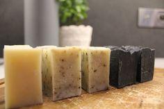Kilka naszych rękodzieł: mydło naturalne, lawenda, rozmaryn i węgiel Pillar Candles, Feta, Soap, Perfume, Blog, Diy, Bricolage, Blogging, Do It Yourself