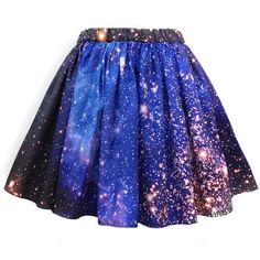 SMC Nebula Skirt, Galaxy Print, Organic Cotton (3.990 UYU) ❤ liked on Polyvore featuring skirts, mini skirts, bottoms, saias, blue, checked skirt, blue skirt, checkered mini skirt, blue mini skirt and cosmic skirt
