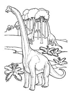 Dinosaurs eating the trees color page. Animal coloring pages. Coloring pages for kids. Thousands of free printable coloring pages for kids! Tree Coloring Page, Dinosaur Coloring Pages, Animal Coloring Pages, Colouring Pages, Coloring Pages For Kids, Free Coloring, Coloring Books, Dinosaur Pictures, Extinct Animals