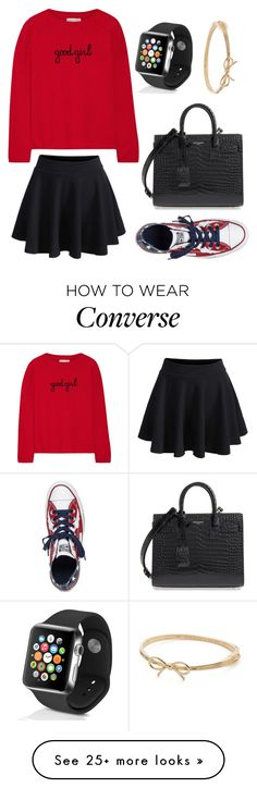 """""""E.R."""" by wanderlustpan on Polyvore featuring Chinti and Parker, WithChic, Converse, Yves Saint Laurent, Apple and Kate Spade"""