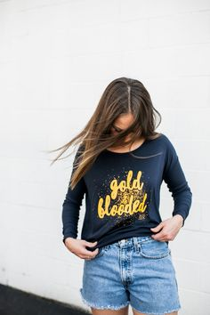 Gold Blooded Long Sleeve Tee