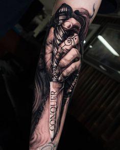 Tattoo artist Jayden Pengilly, color and black&grey authors portrait realism tattoo, surrealism | Australia