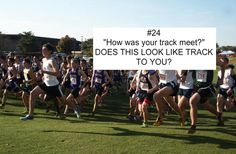 I HATE when people ask me that. cross country is WAY different than track...
