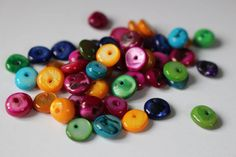 Mother of pearl chips, dyed beads by allthatglittersbeads on Etsy