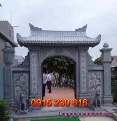 Cổng đá đẹp ở Ninh Bình - Mẫu cổng đá xanh - Cổng đá đẹp giá rẻ Pergola, Outdoor Structures, Outdoor Pergola