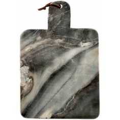 Large Grey Marble Paddle Serving Board, Gray