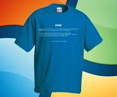 1f4c2b45a3 Windows kékhalál póló - Blue screen of death, BSoD - Pólóműhely Webáruház