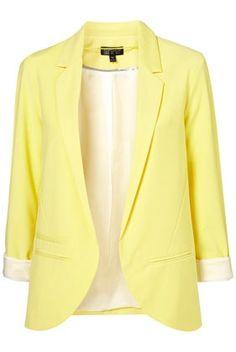 yellow blazer top shop